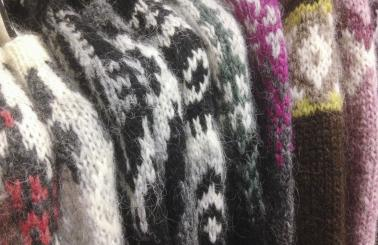 """Lopapeysa"" are traditional woolen Icelandic sweaters."