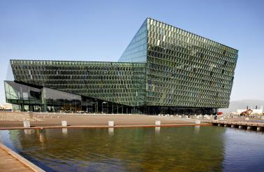 Construction on the Harpa Concert Hall began in 2007, but was halted during the financial crisis. It was completed in 2011.